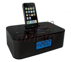 Omejo Iphone Clock FM Radio Speaker Hidden Spy Camera DVR